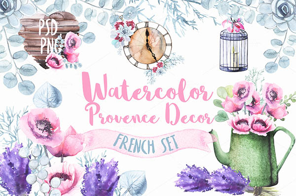 Watercolor Floral Elements for Graphic Designers - 8