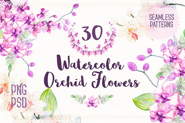 Watercolor Floral Elements for Graphic Designers - 15