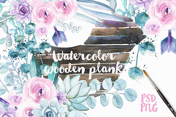 Watercolor Floral Elements for Graphic Designers - 20