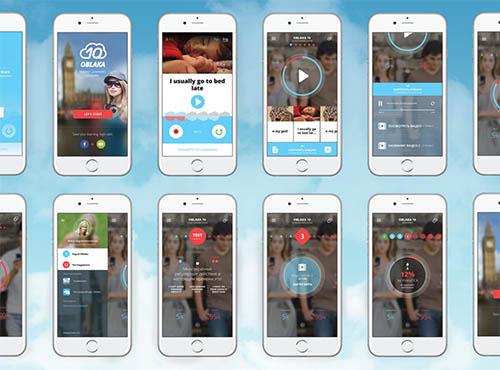 Oblaka 10 iPhone mobile app By Sergei Nesterchuk