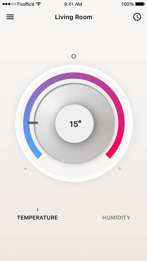 Thermostat App - Day66 UI/UX Free Sketch App Challenge By Serhiy Semenov