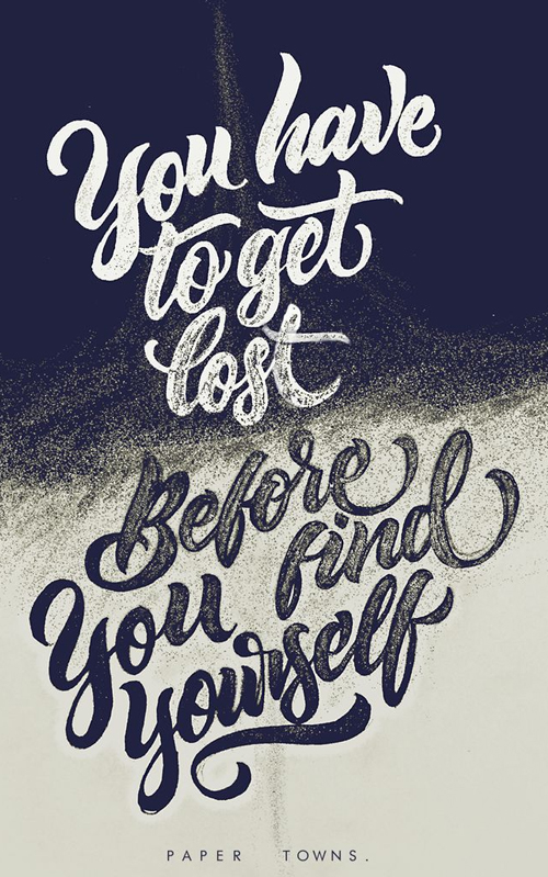 You have to get lost