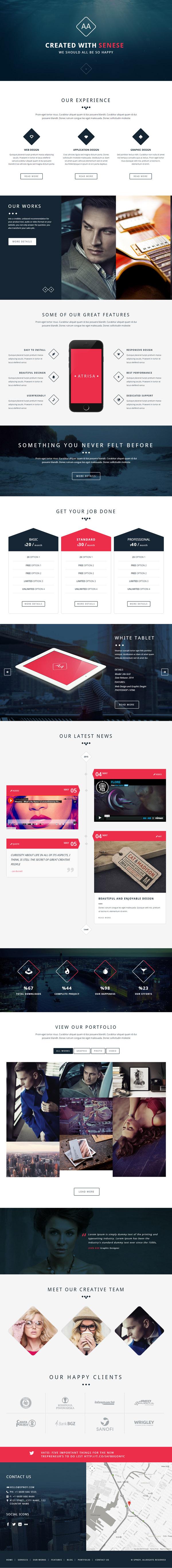 Atrisa – One Page / Multi-Purpose WordPress Theme