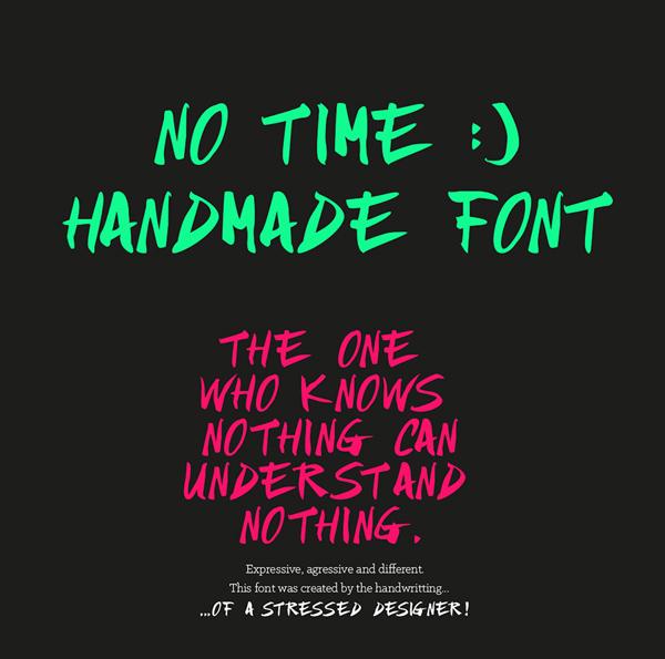 NO TIME Free Font