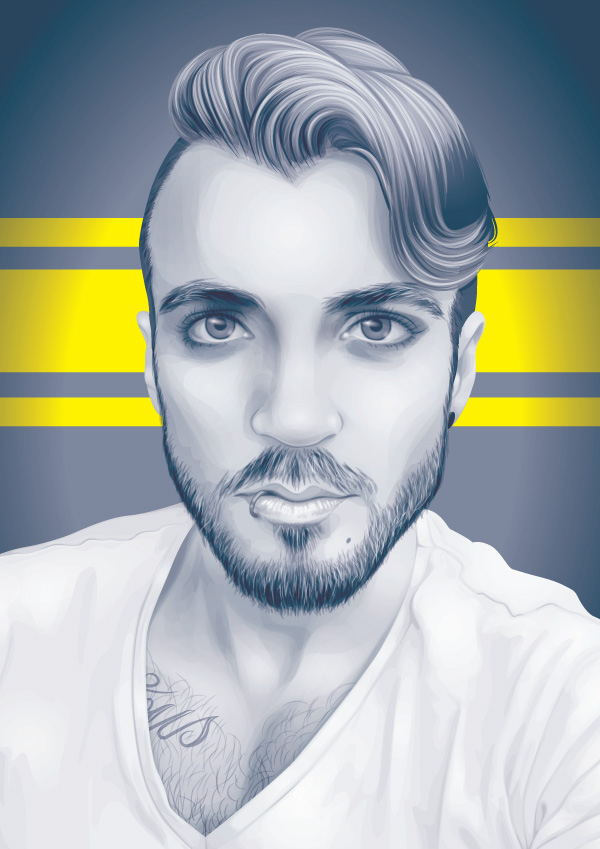 How to Create a Greyscale Monochrome Vector Portrait in Adobe Illustrator