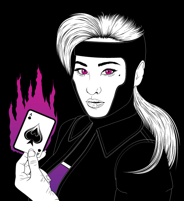 How to Create the X-Men Character Gambit in Adobe Illustrator