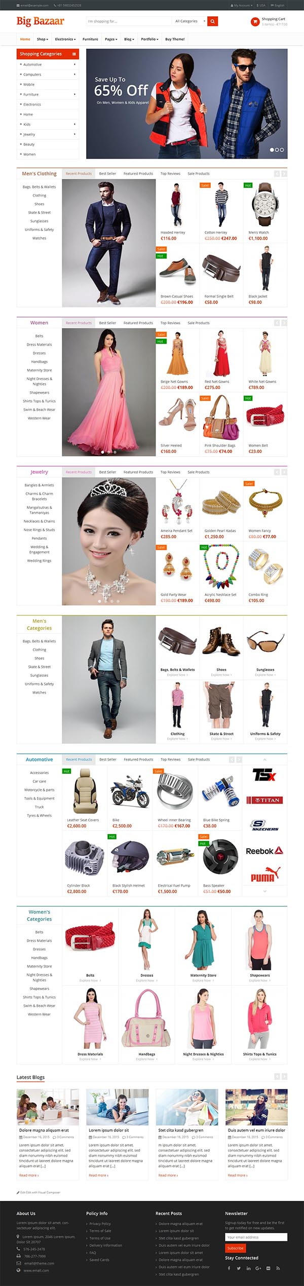 BigBazaar – Multipurpose Responsive Ecommerce Theme