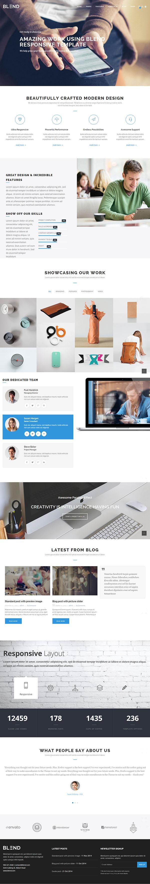 Blend – Multi-Purpose Responsive WordPress Theme
