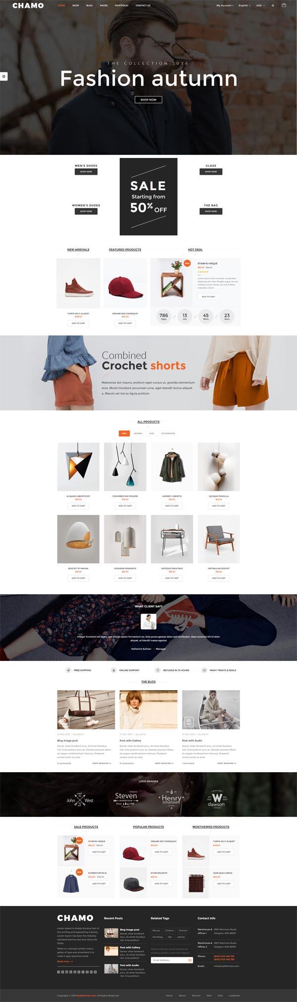 Chamo – Responsive WooCommerce WordPress Theme