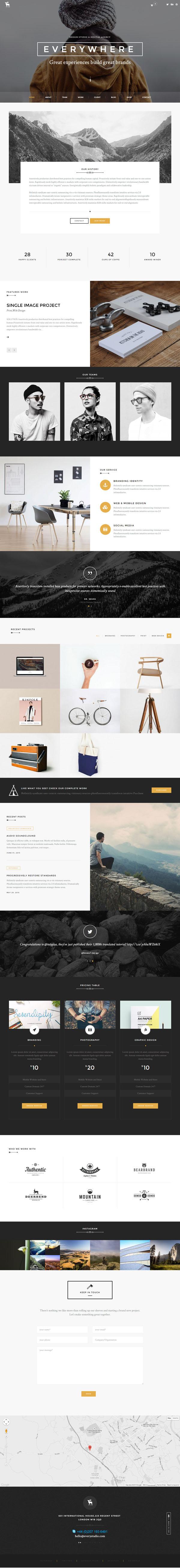 Every – Pro Create One Page Portfolio Theme