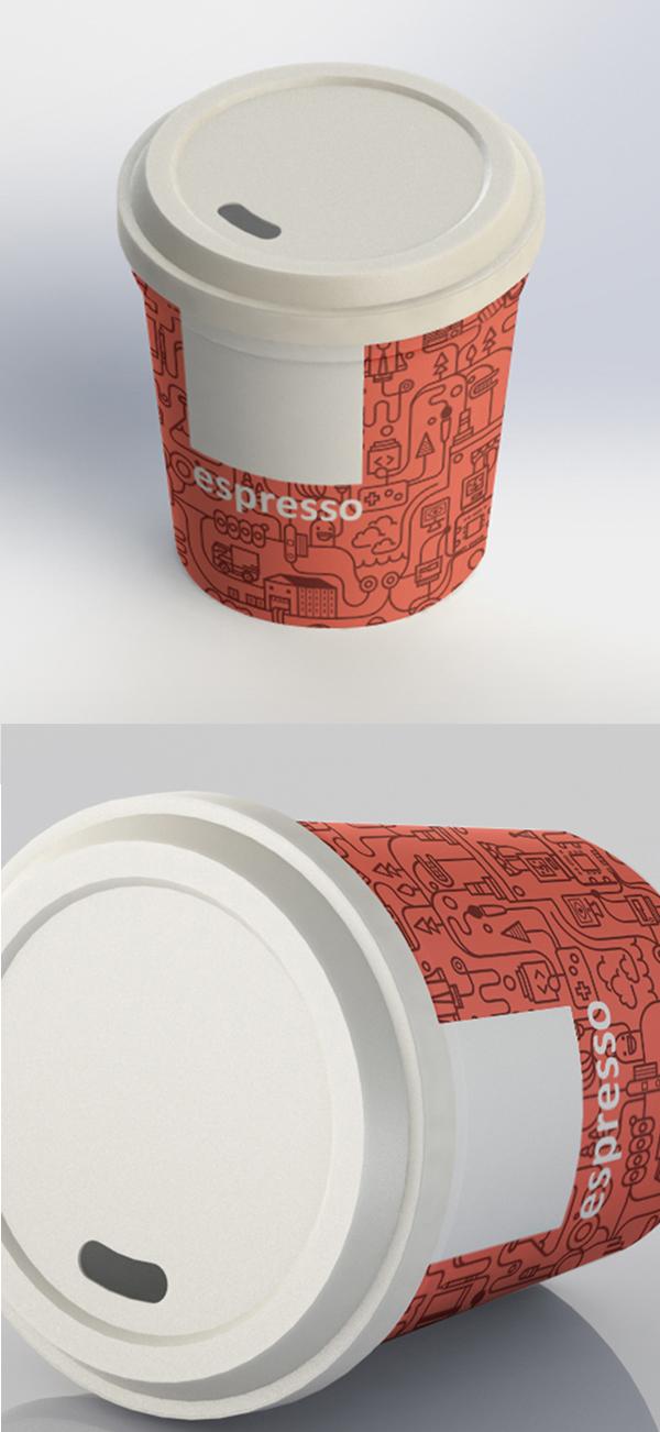 Espresso Coffee Cup Free PSD Mockup