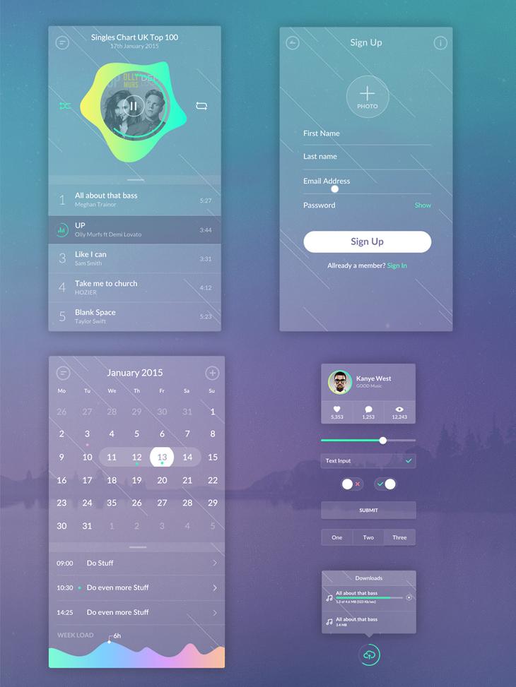 Zen Transparent UI Kit