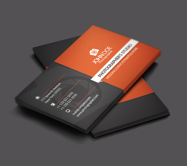 Free Photographer Business Card PSD File