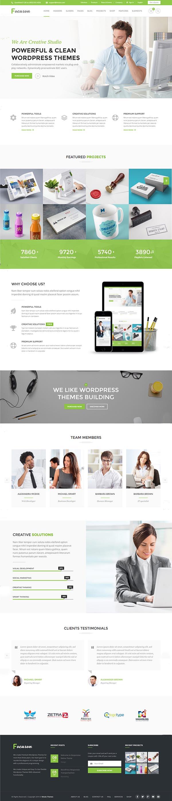 Focuson – Business WordPress Theme