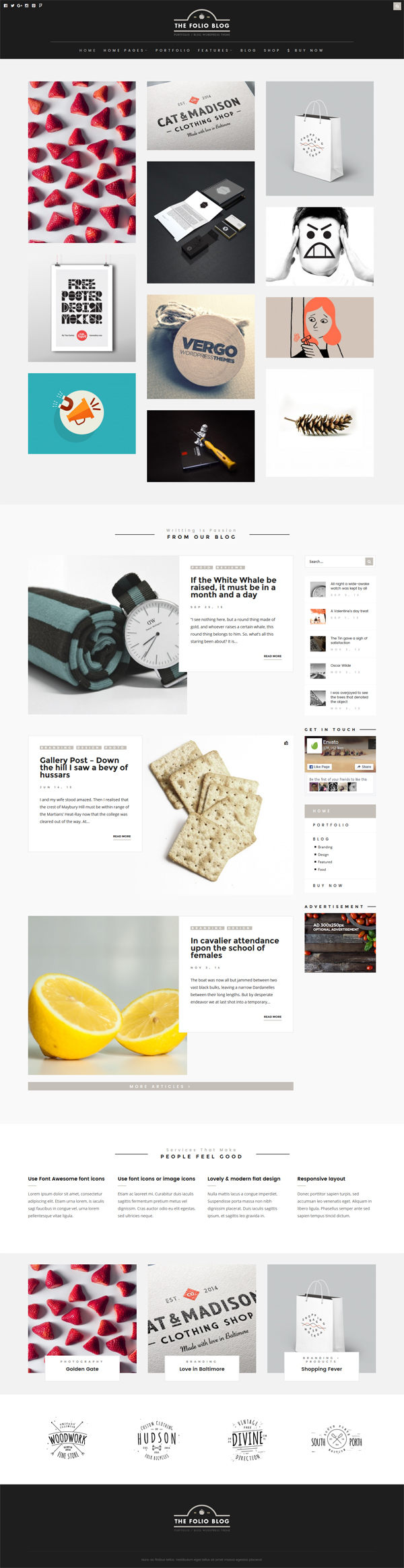FolioBlog – Creative & Responsive Theme For Artists & Bloggers