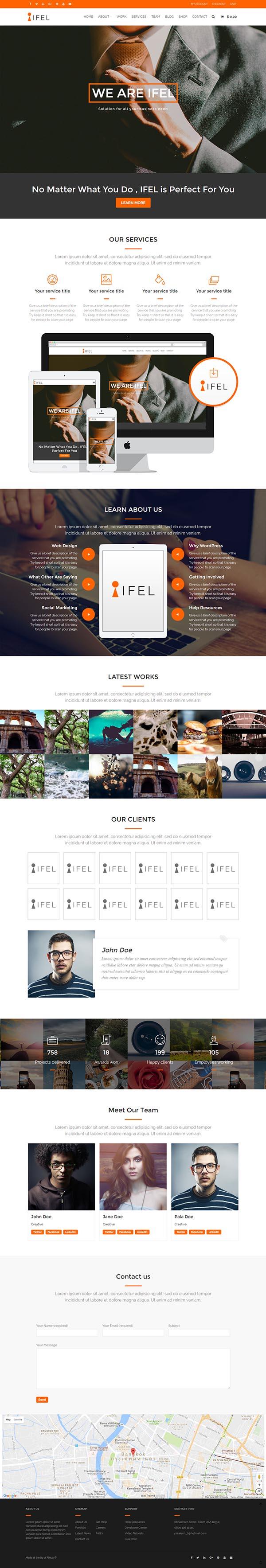 IFEL : Business Ecommerce WordPress theme