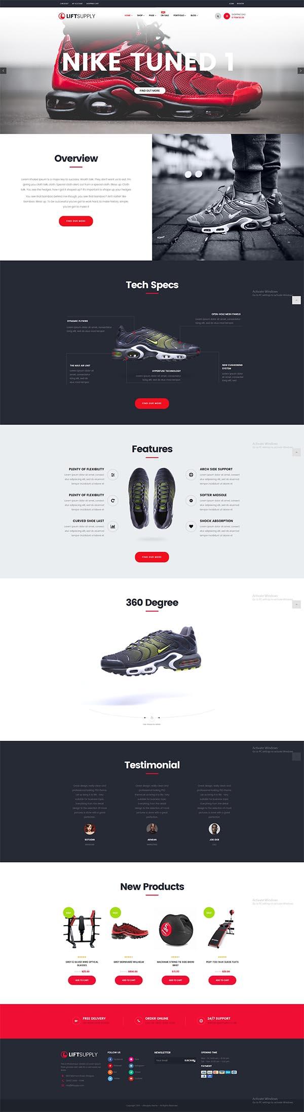LiftSupply - Creative One Product WooCommerce WordPress theme