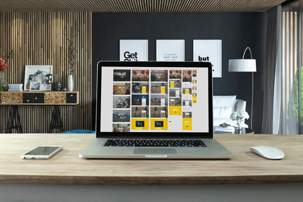 Free Smart Workstation PSD Mockup