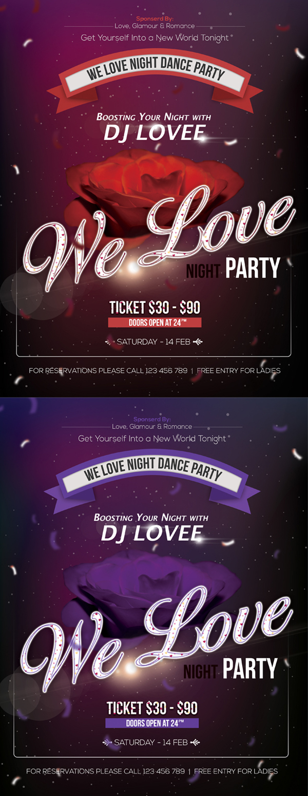Free Night Party Flyer PSD Files