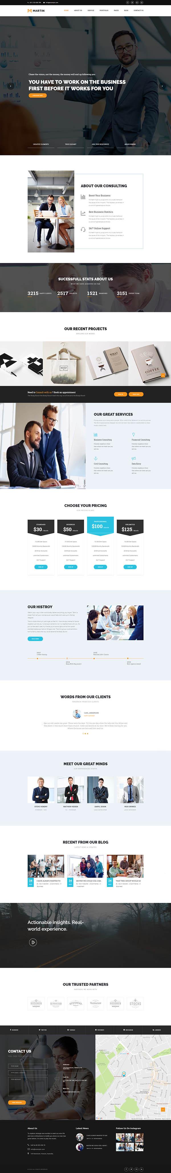 Martin - Multipurpose Responsive WordPress Theme