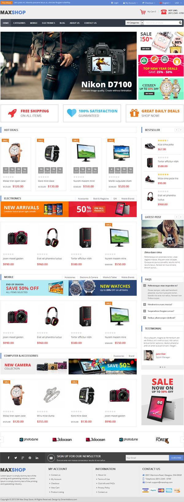 Maxshop – Responsive WordPress WooCommerce Theme