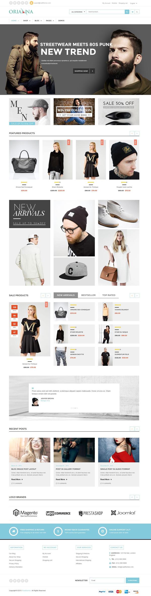 Orianna – Responsive WooCommerce Fashion Theme
