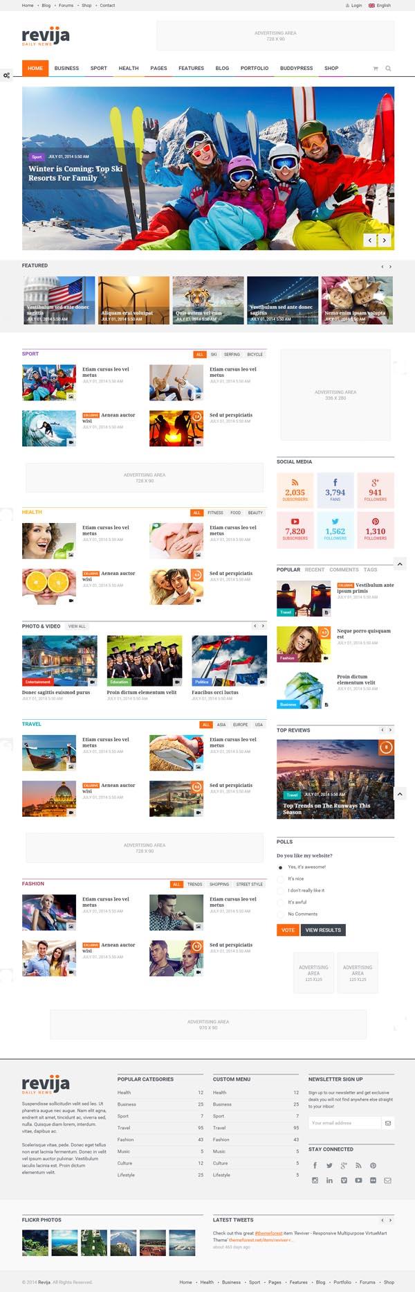 Revija – Premium Blog/Magazine HTML Template