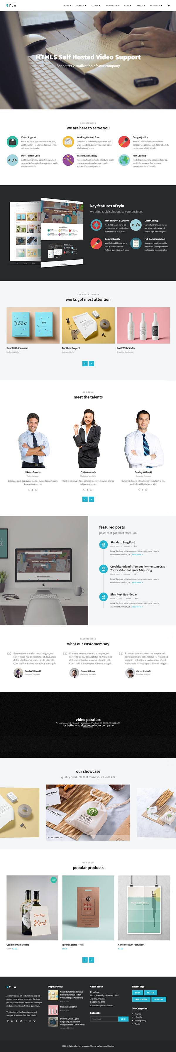 Ryla – Multipurpose Single/Multi Page WordPress Theme