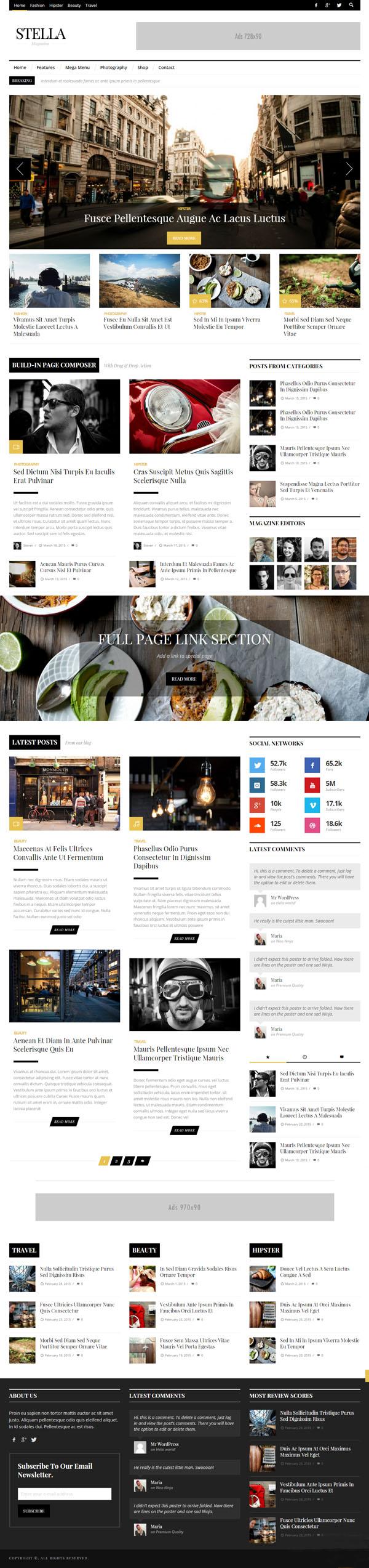 STELLA – Clean Blog/News/Magazine Responsive Theme