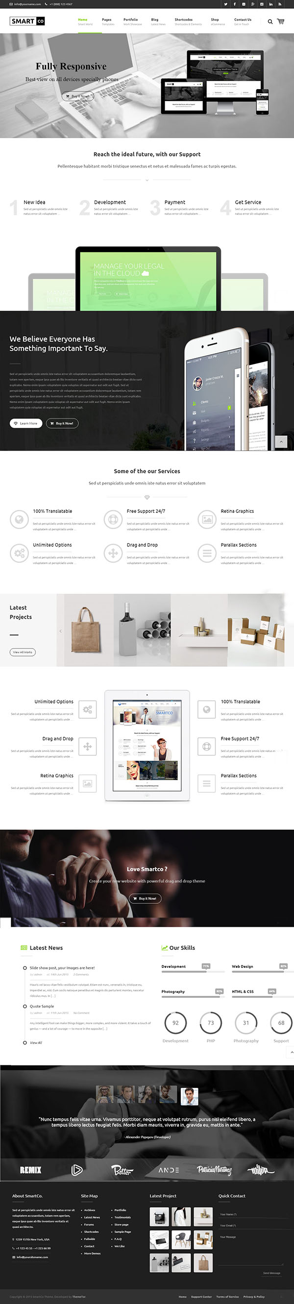 SmartCo – Business Friendly Multi-purpose WP Theme