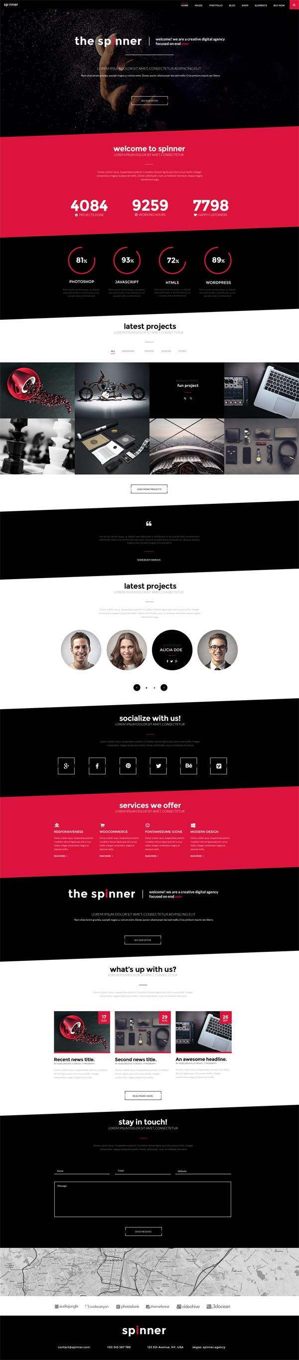 Spinner – Modern, Responsive HTML5 Template