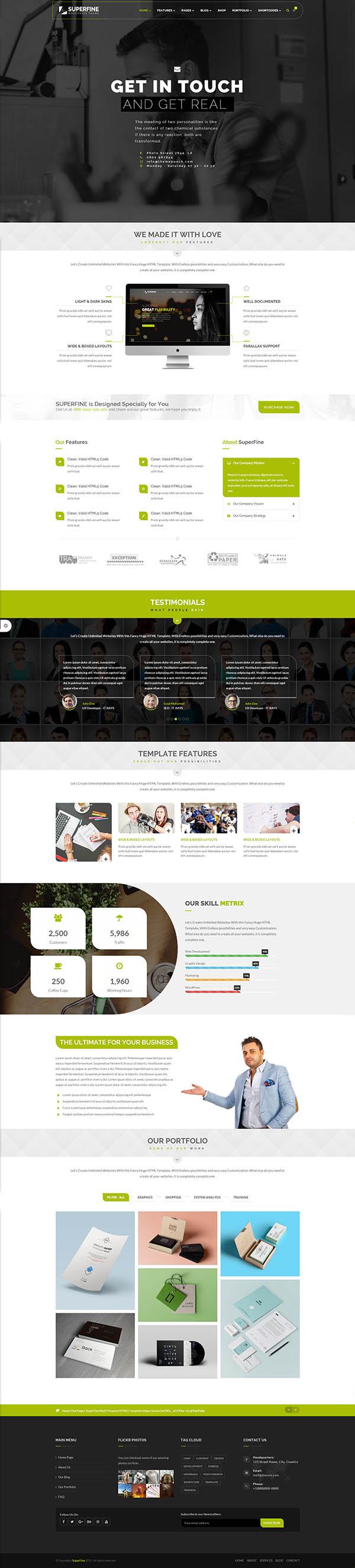 SuperFine – Multipurpose WordPress Theme