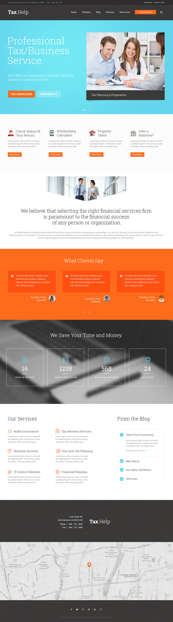Tax Help – Finance & Accounting WordPress Theme