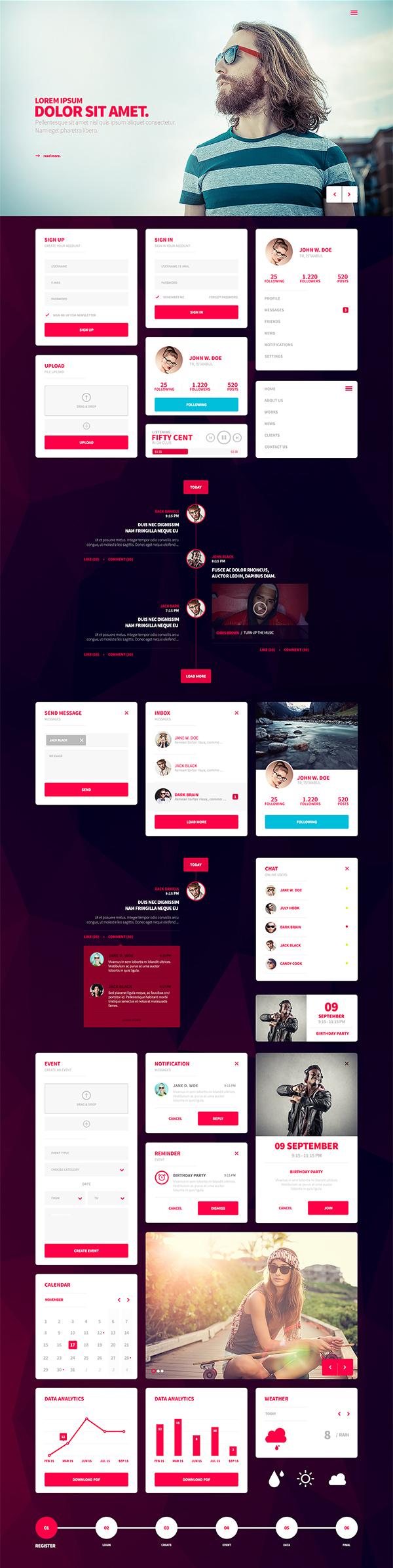 Nakropol – Free UI Kit for Web / Mobile UI