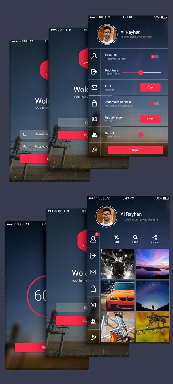 OS8 Style Phone 6 Plus Quality App UI Free PSD