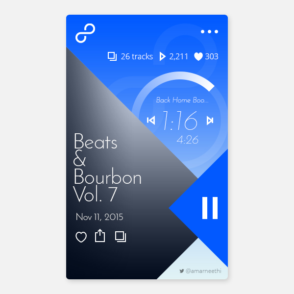 Free Music App UI PSD Template