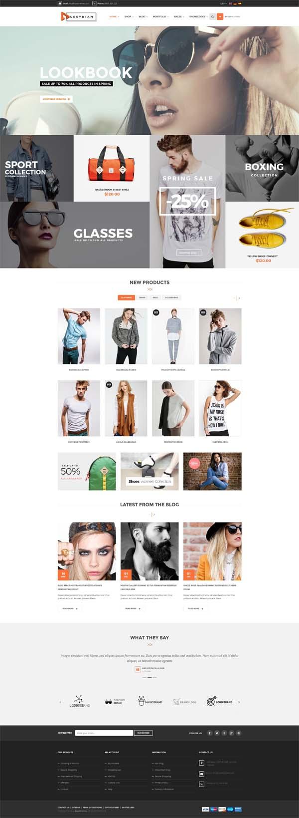 Assyrian – Responsive Fashion WordPress Theme