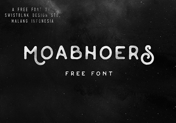 Moabhoers Free Font