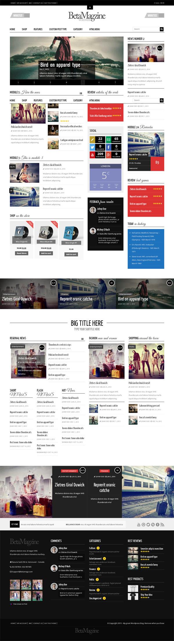 Betamagz – Multipurpose Theme For WP Magazine