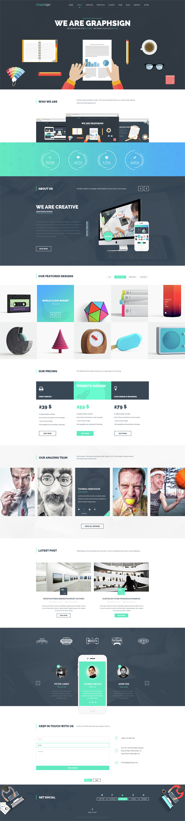 Graphsign – Creative One Page Multi-Purpose WP Theme