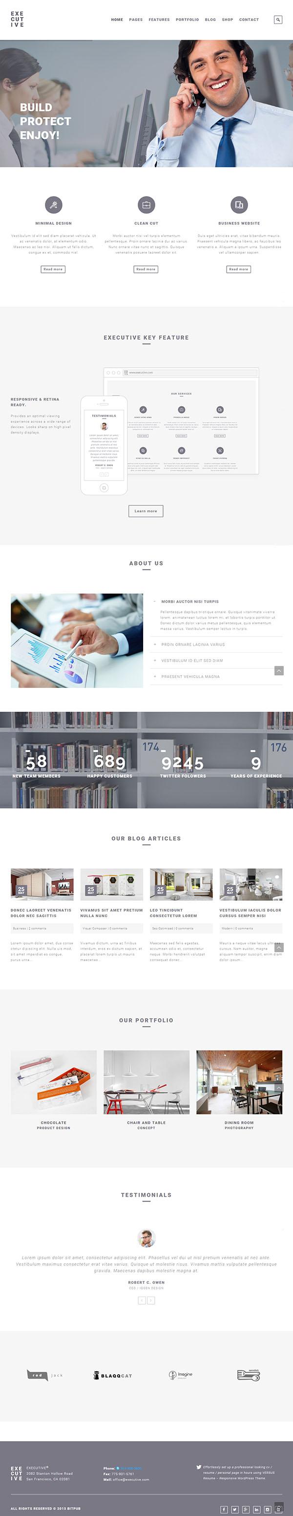 Executive – Responsive Business WordPress Theme