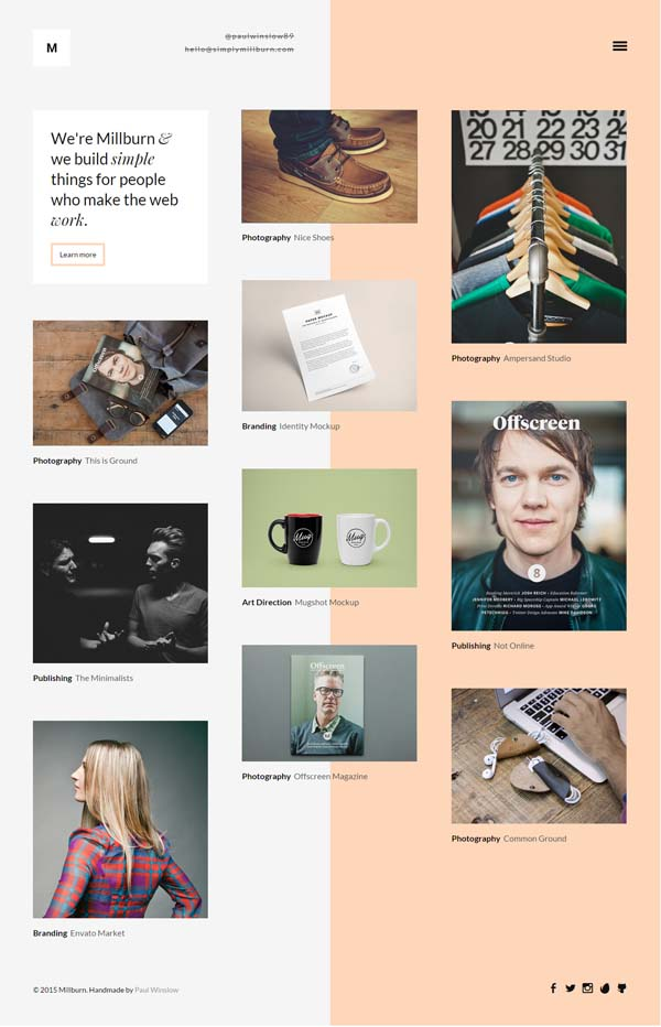 Millburn – Minimalist Portfolio Theme
