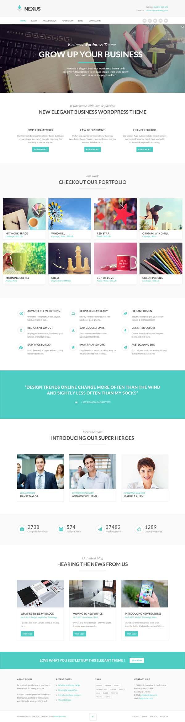 Nexus – Elegant Business WordPress Theme