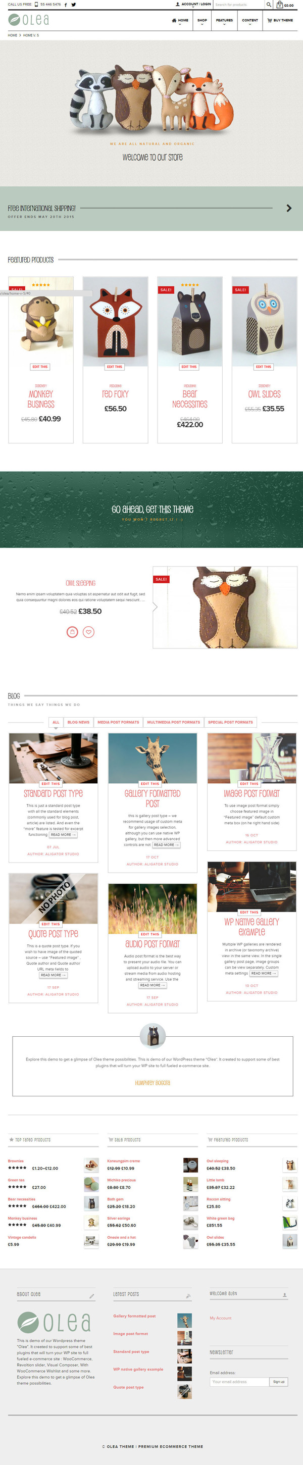 Olea – Ecommerce and Multipurpose Theme