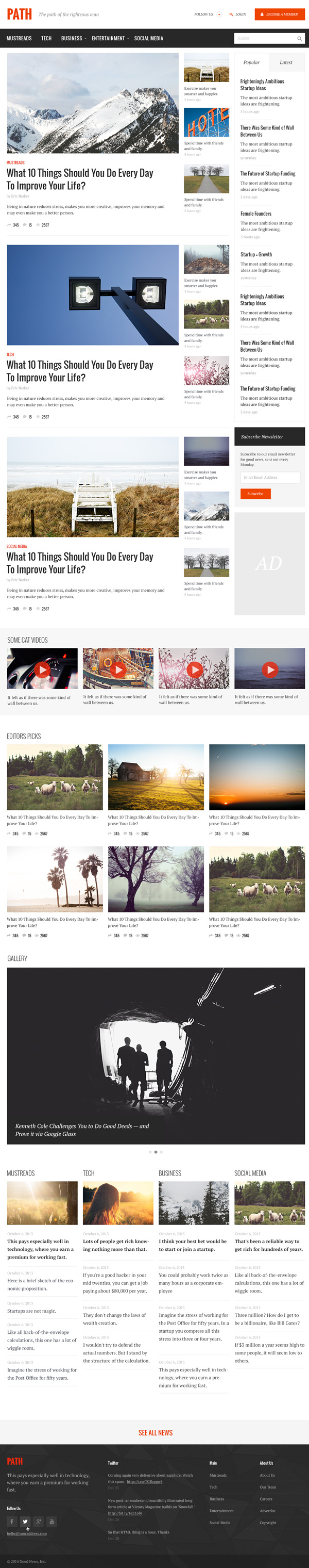Path – Responsive Multipurpose Blog/Magazine Theme