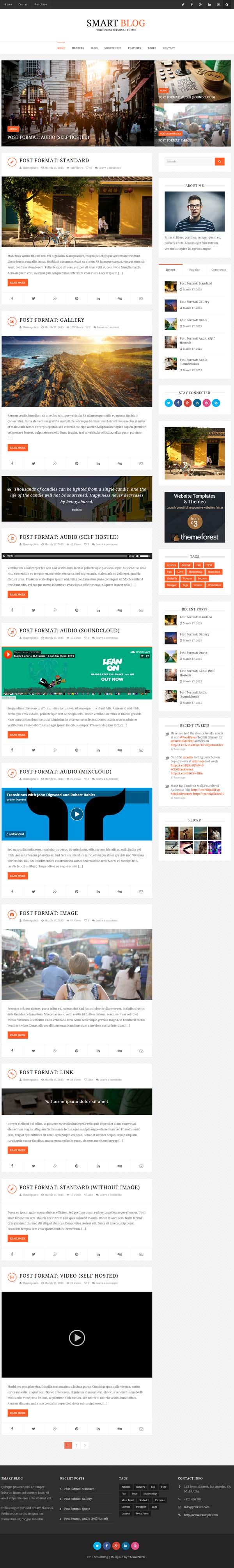 Smart Blog – WordPress Theme For Personal Blog