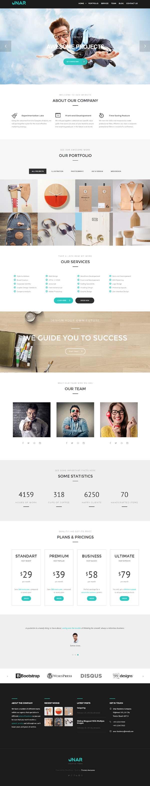 Unar – Modern & Clean Business WordPress Theme