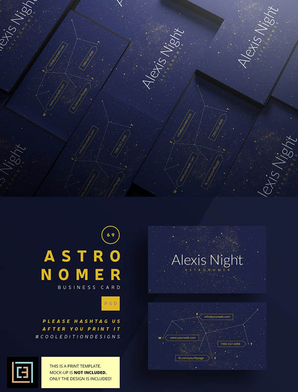 Astronomer - Business Card 69