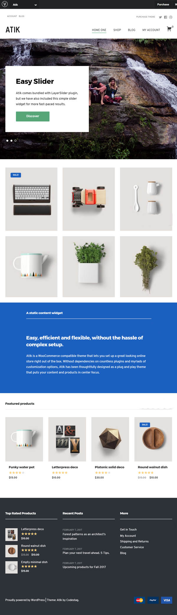 Atik : A Simple WordPress Theme for your Online Store