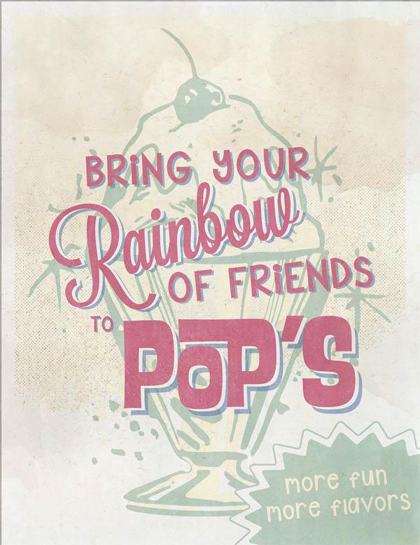 Pops Malt Shop Advertisements
